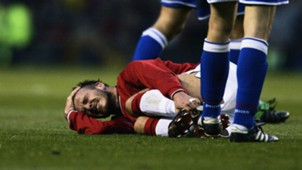 David Beckham Manchester United injured