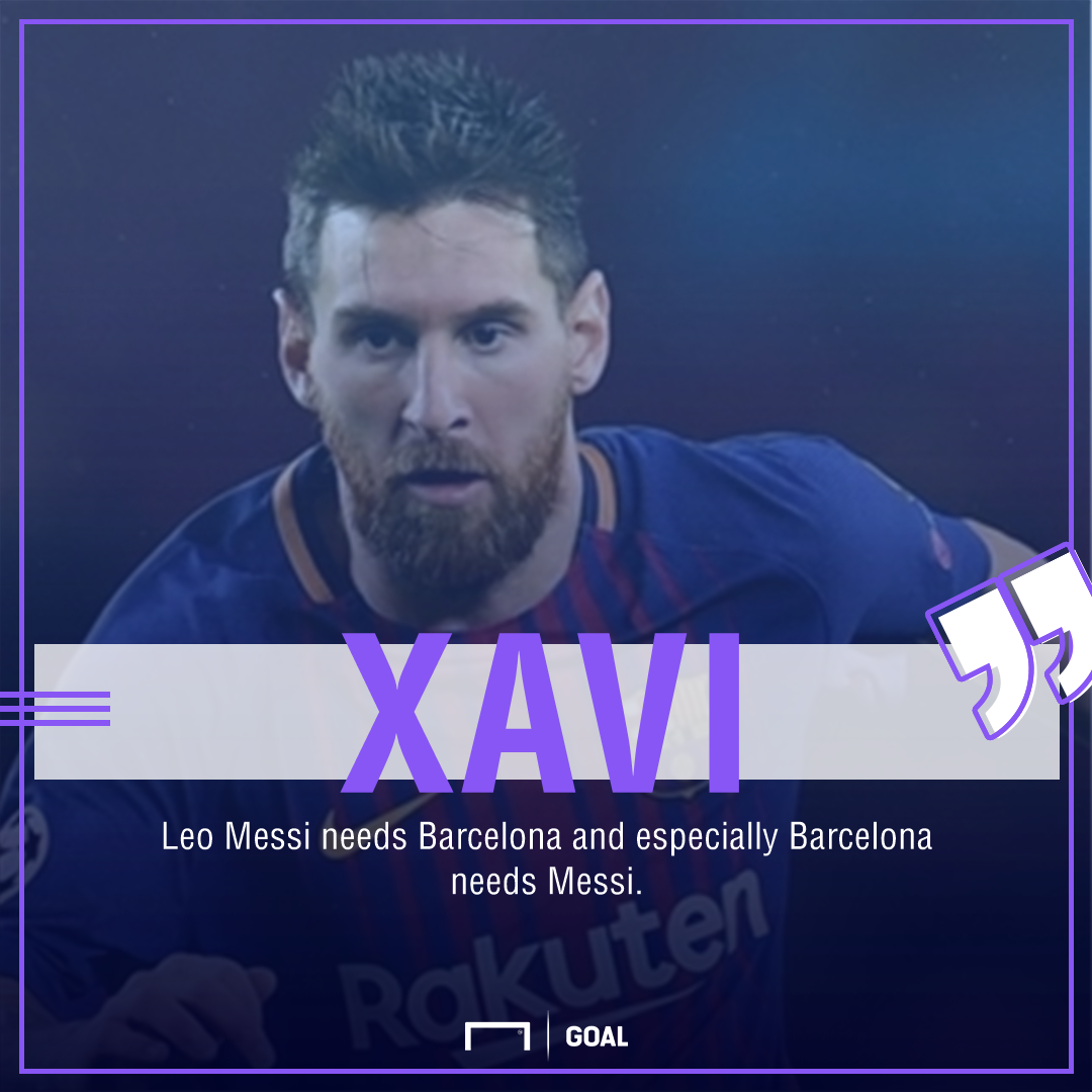 Xavi on Messi