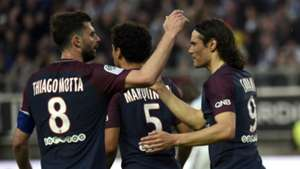 PSG Paris Saint-Germain celebrate