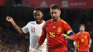 Sergio Ramos Raheem Sterling Spain vs England Nations League 2018-19