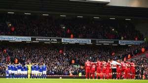 Wayne Harrison minute's silence Anfield