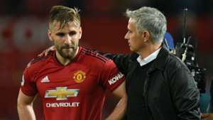 Luke Shaw Jose Mourinho Manchester United Tottenham 270818