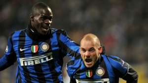 Mario Balotelli Wesley Sneijder Inter 2009-2010