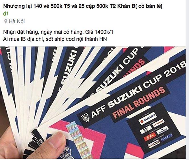 Phe vé online AFF Cup