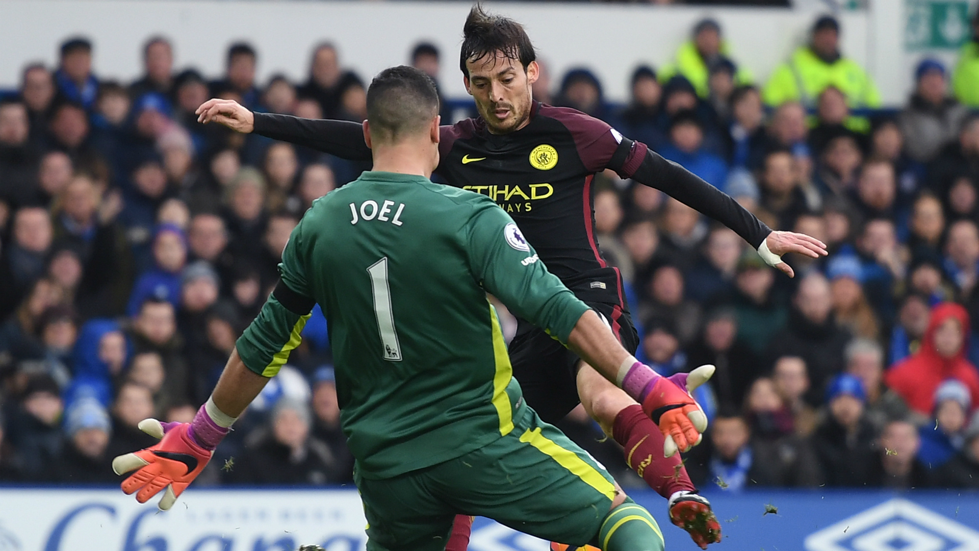 David Silva Everton Manchester City