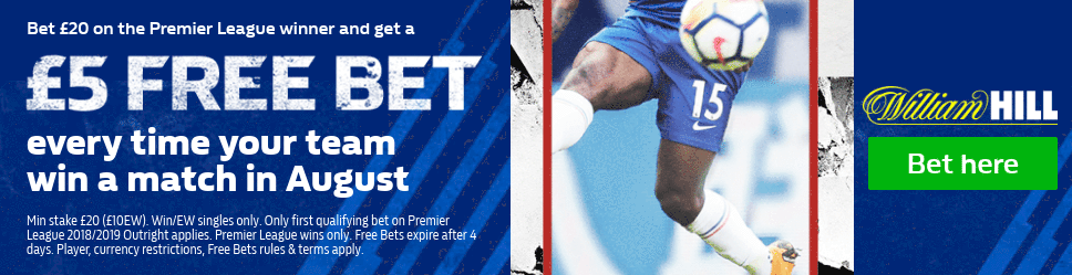 William Hill Premier League winner offer