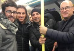 Sampaoli y cuerpo técnico de Argentina en Londres 13012018
