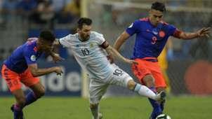 Lionel Messi Wilmar Barrios Radamel Falcao  Argentina Colombia Copa America 2019