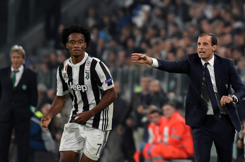 Juan Cuadrado Juventus vs Sporting Champions League