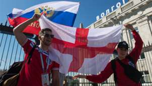 Torcedores Inglaterra Copa do Mundo Rússia 18 06 18