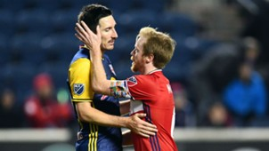 Sacha Kljestan Dax McCarty New York Red Bulls Chicago Fire MLS