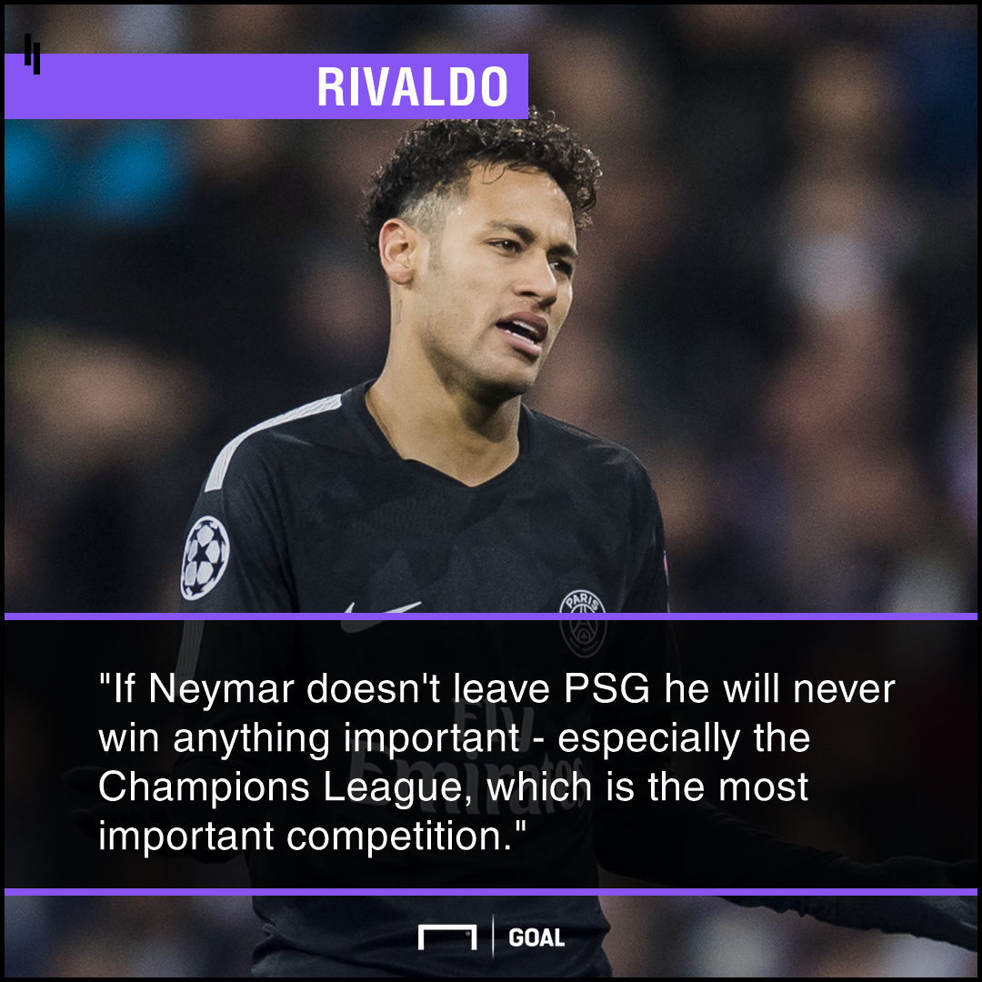 Rivaldo on Neymar UCL