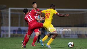 Nguyen Viet Phong Emmanuel Tony Agbaji Viettel vs Nam Dinh V.League 2019