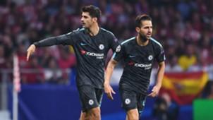 Alvaro Morata Cesc Fabregas Atletico de Madrid Chelsea UCL 27092017