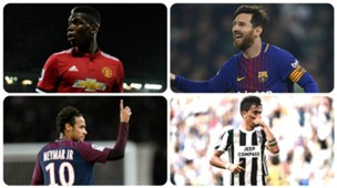 Paul Pogba, Lionel Messi, Neymar, Paulo Dybala GFX