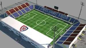 Cagliari temporary stadium project
