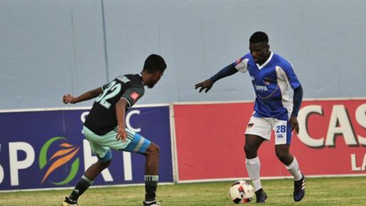 Chippa United midfielder Donald Mokondelela against Ajax Cape Town