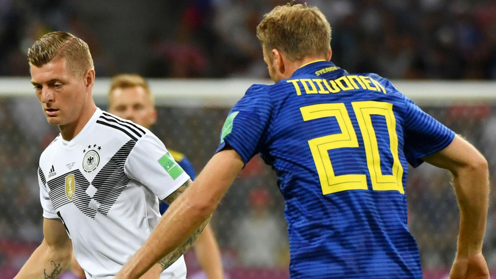 Ola Toivonen Sweden Toni Kroos Germany World Cup