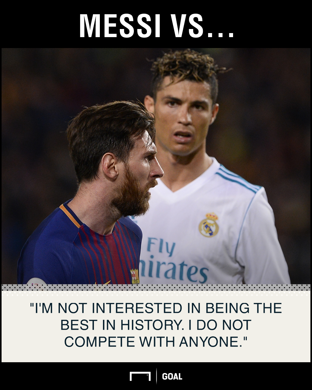 Lionel Messi not interested in being the best