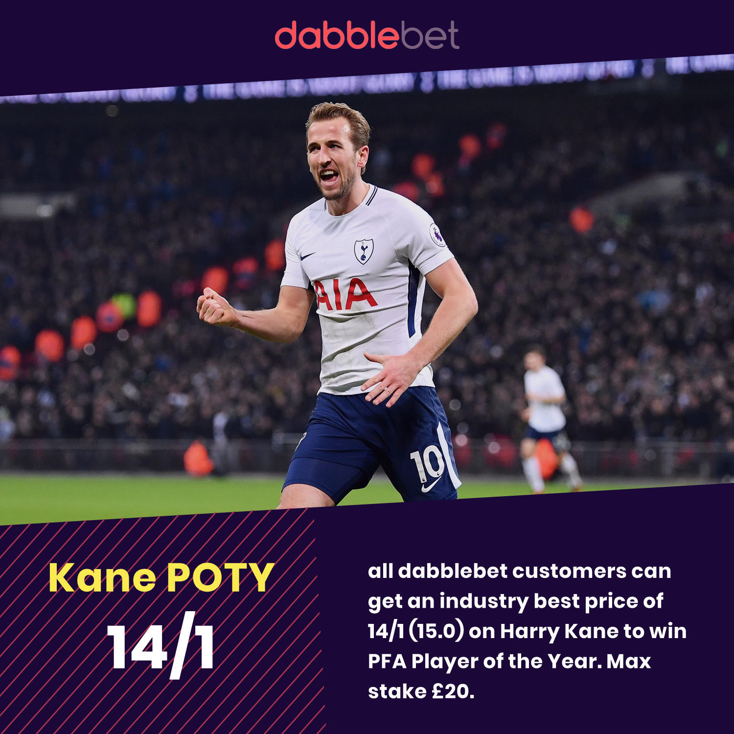 Kane player of the year boost