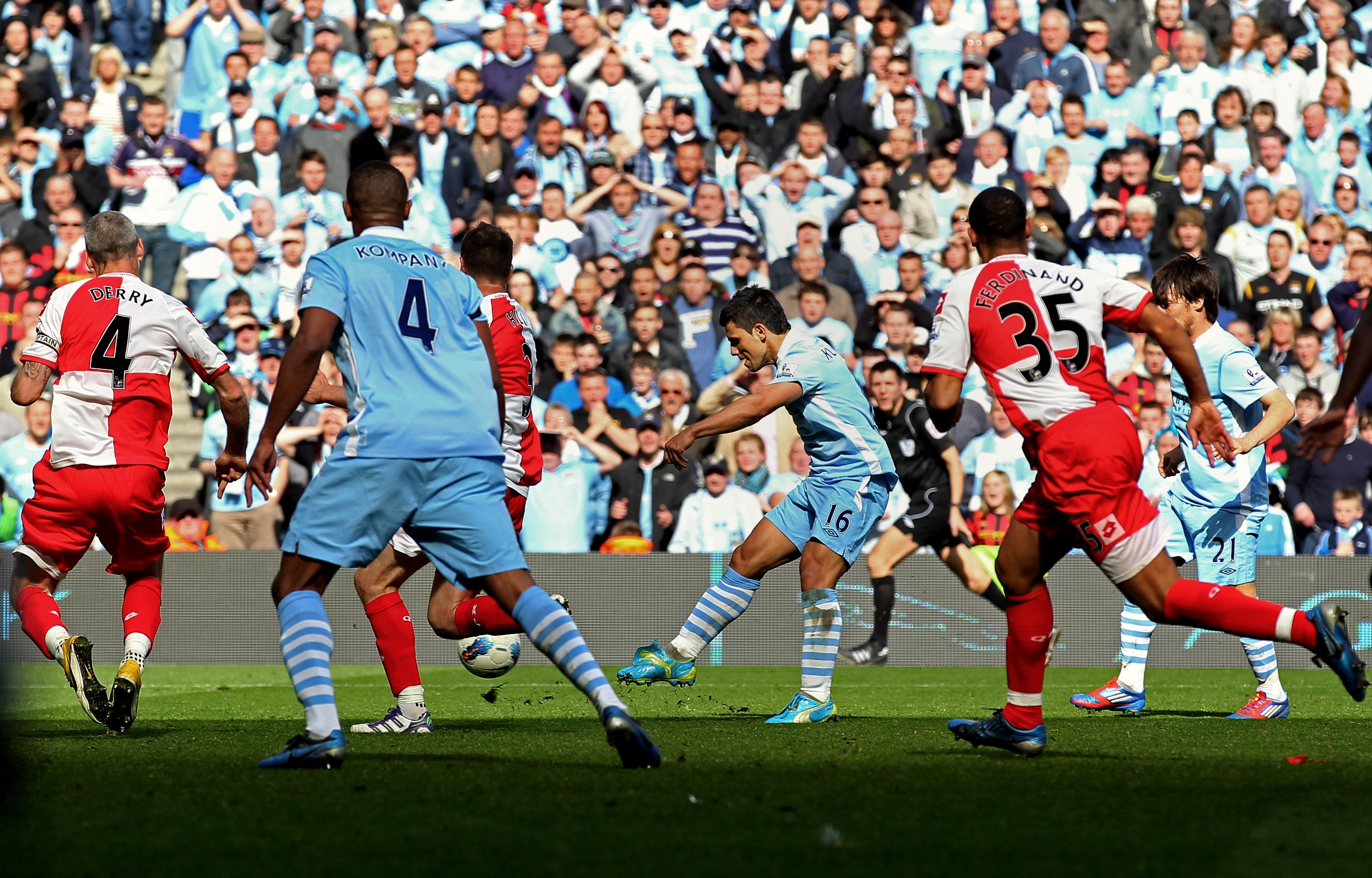 Sergio Aguero Manchester City Queens Park Rangers