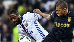 Nicolas Nkoulou Kylian Mbappe Lyon Monaco Ligue 1 23042017