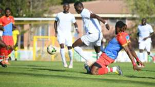 Michael Olunga of Harambee Stars v DR Congo.
