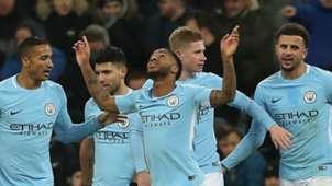Raheem Sterling Manchester City celebrate