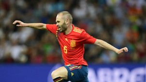 Andres Iniesta Spain international friendly 2018