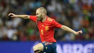 Andres Iniesta Spain international friendly 2018