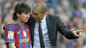 Pep Guardiola Lionel Messi Barcelona