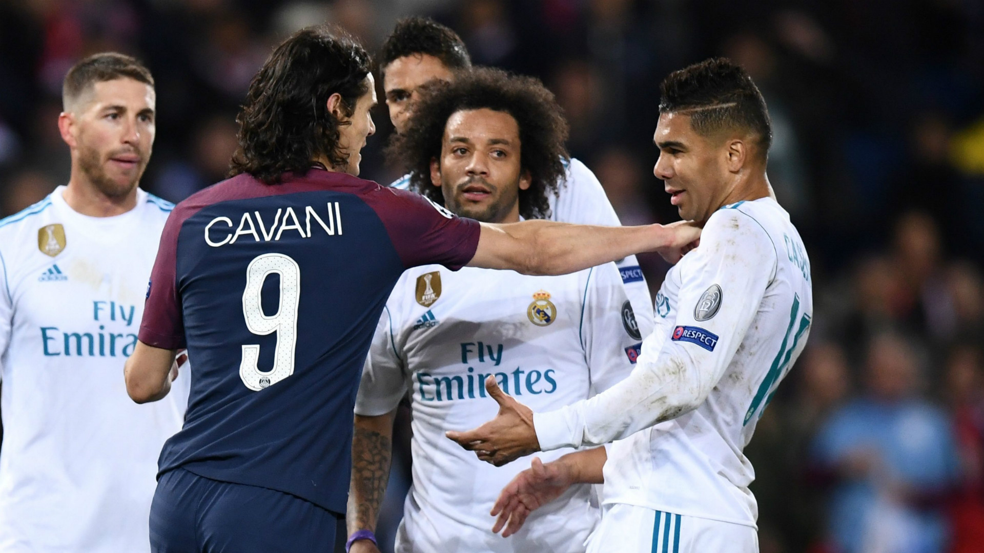 Edinson Cavani Casemiro PSG Paris Saint Germain Real Madrid