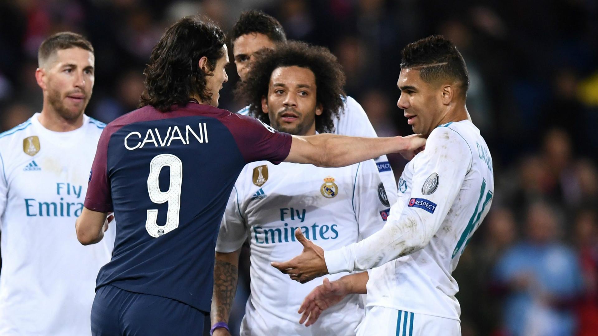 Edinson Cavani Casemiro PSG Paris Saint-Germain Real Madrid