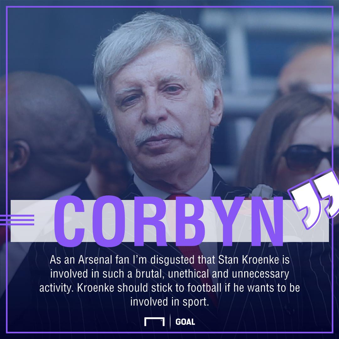 Jeremy Corbyn Stan Kroenke Arsenal