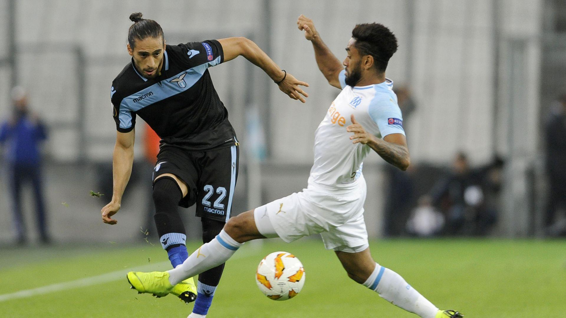 Martin Caceres Olympique Marseille Lazio Europa League