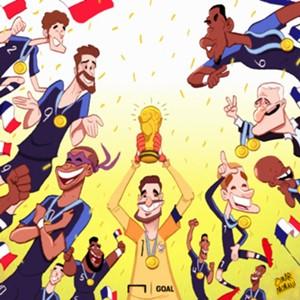 France World Cup winners cartoon