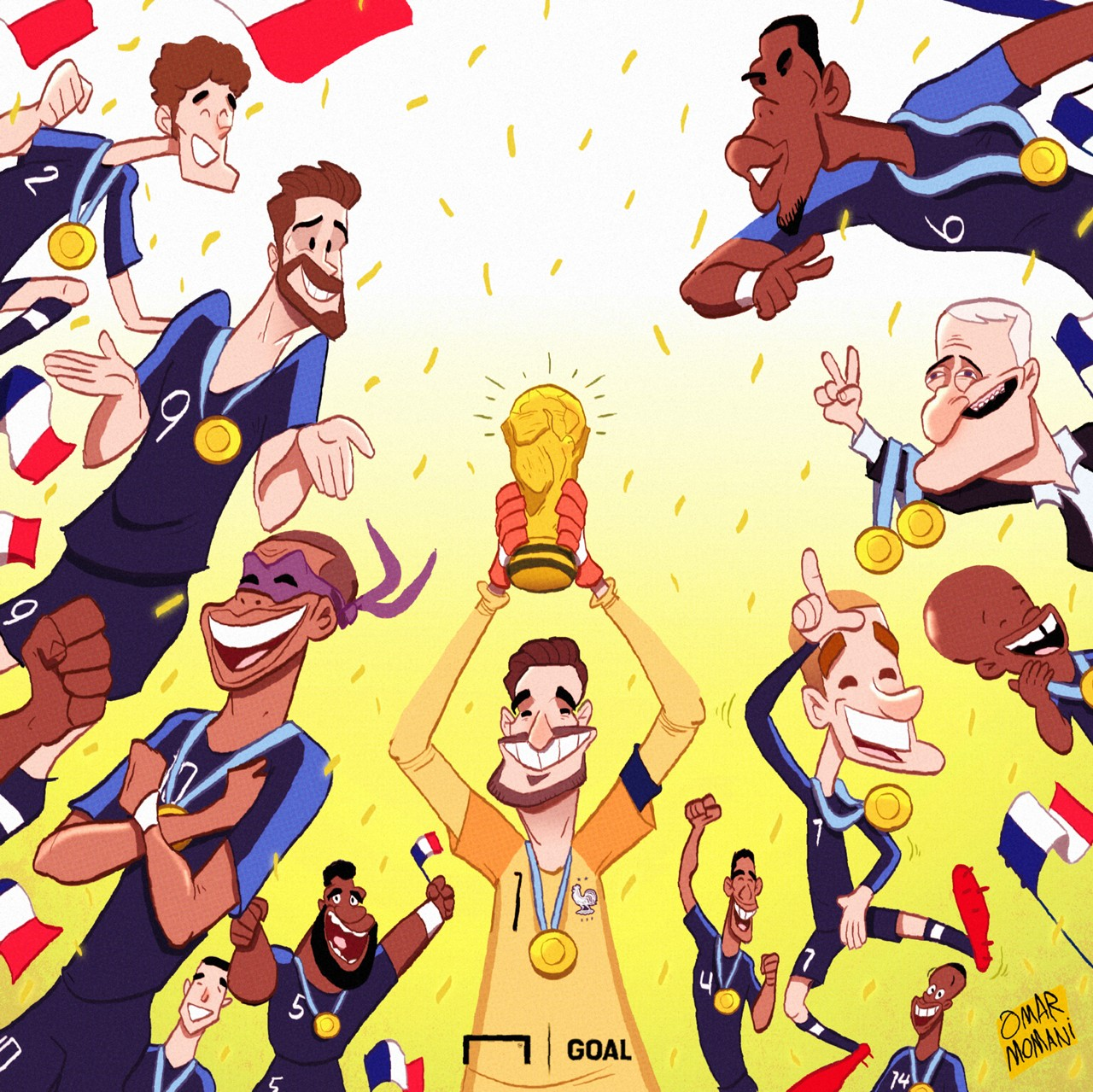 France World Cup winners cartoon