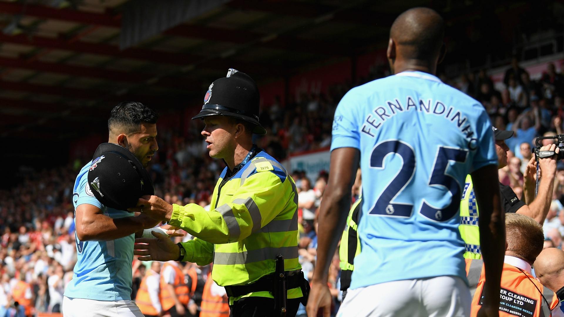 AFC Bournemouth v Manchester City - Premier League Sergio Agüero Fernandinho 260817