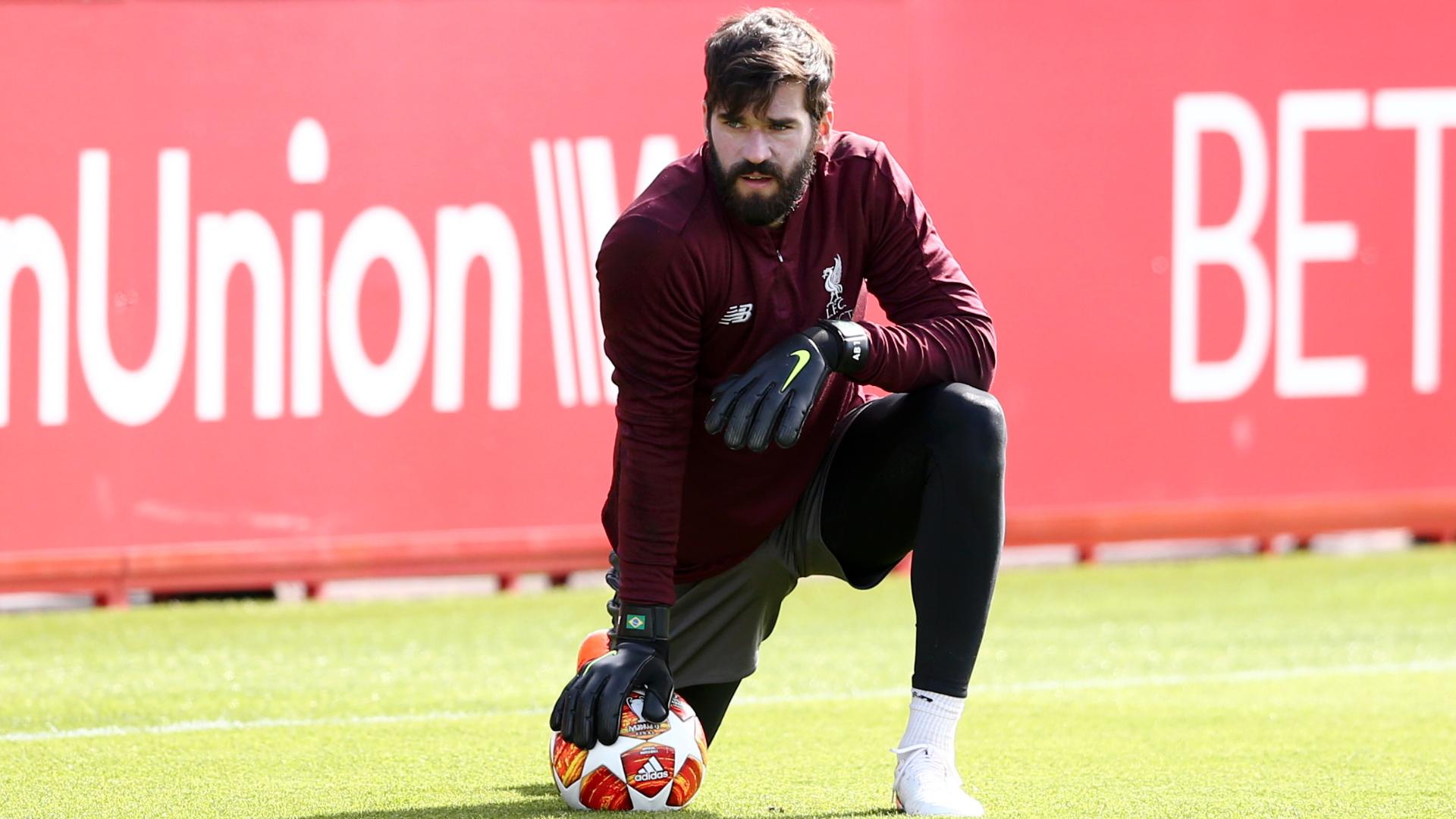 Alisson Liverpool training