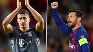 Robert Lewandowski Lionel Messi Bayern Barcelona
