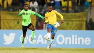 Motjeka Madisha of Mamelodi Sundowns vs AS Vita Club
