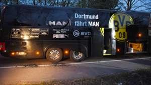 Borussia Dortmund bus after explosion