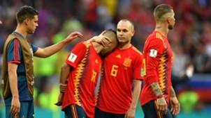 Andres Iniesta Jordi Alba Spain Russia World Cup 2018