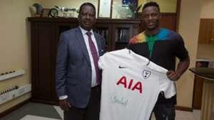 Victor Wanyama and Raila Odinga.