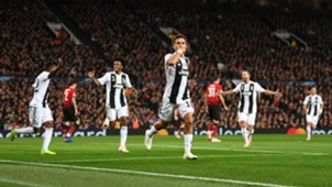 Paulo Dybala Manchester United Juventus Champions League 23102018