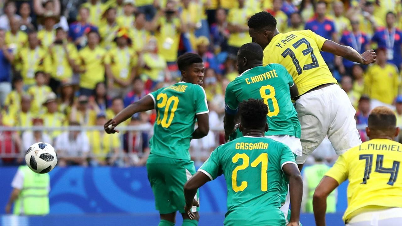 Yerry Mina Colombia Senegal