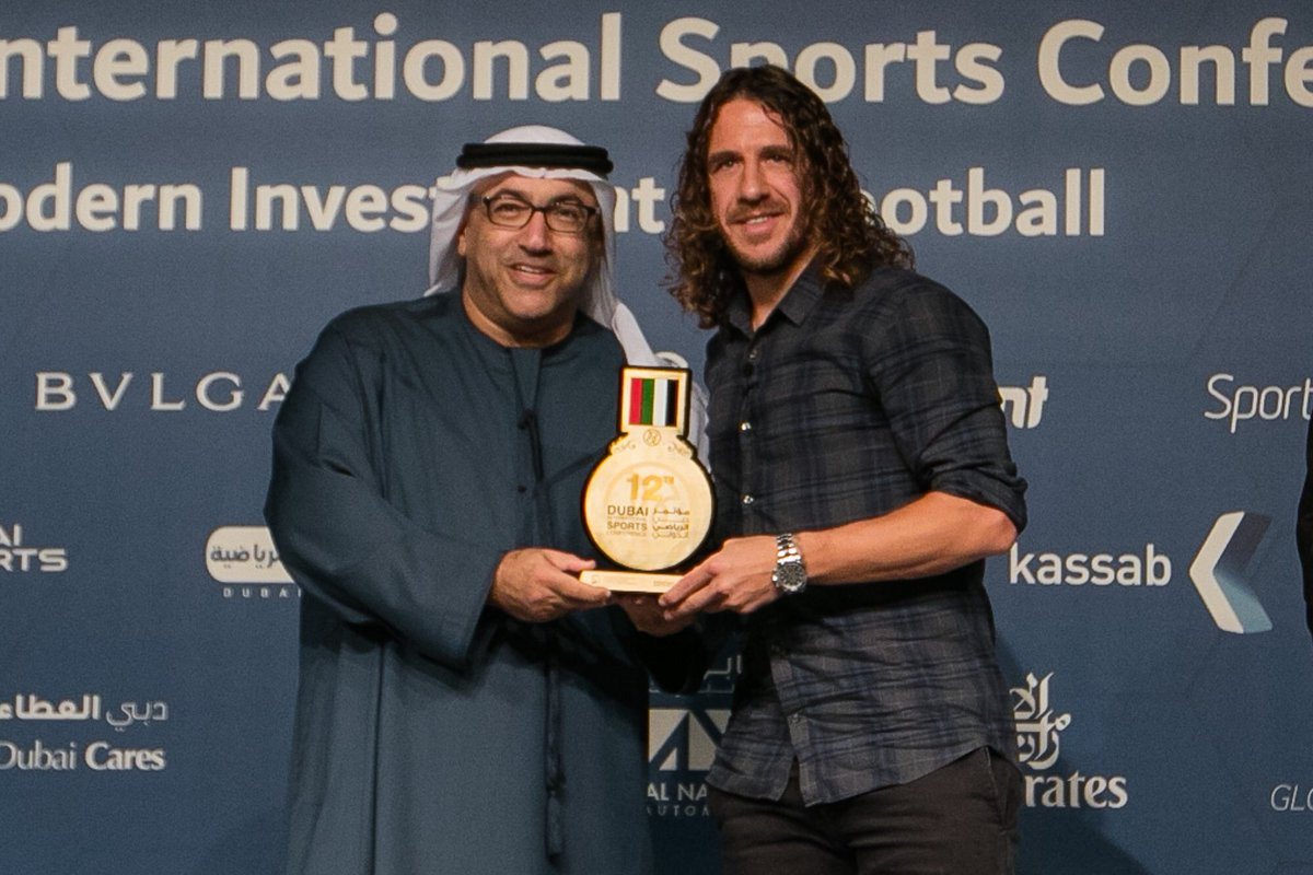 Puyol at the Dubai International Sports Conference
