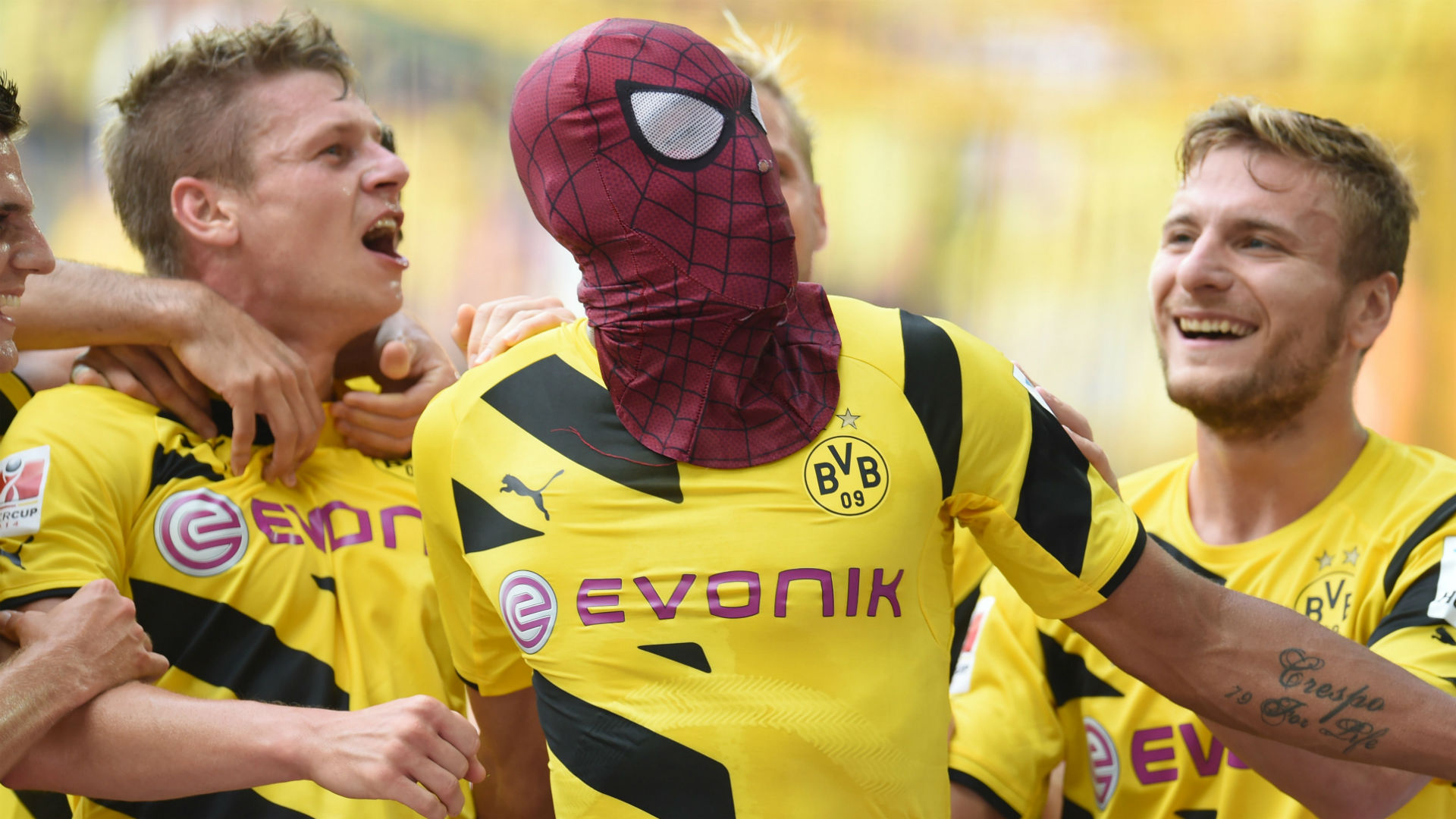 Pierre-Emerick Aubameyang Dortmund Bayern Munich German Supercup 2014