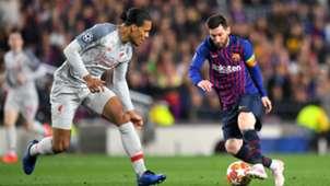 Messi Van Dijk FC Barcelona vs. FC Liverpool Champions League 01052019