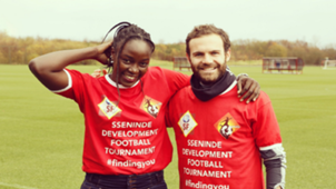 Jean Sseninde Uganda and Crystal Palace Ladies, Juan Mata of Manchester United